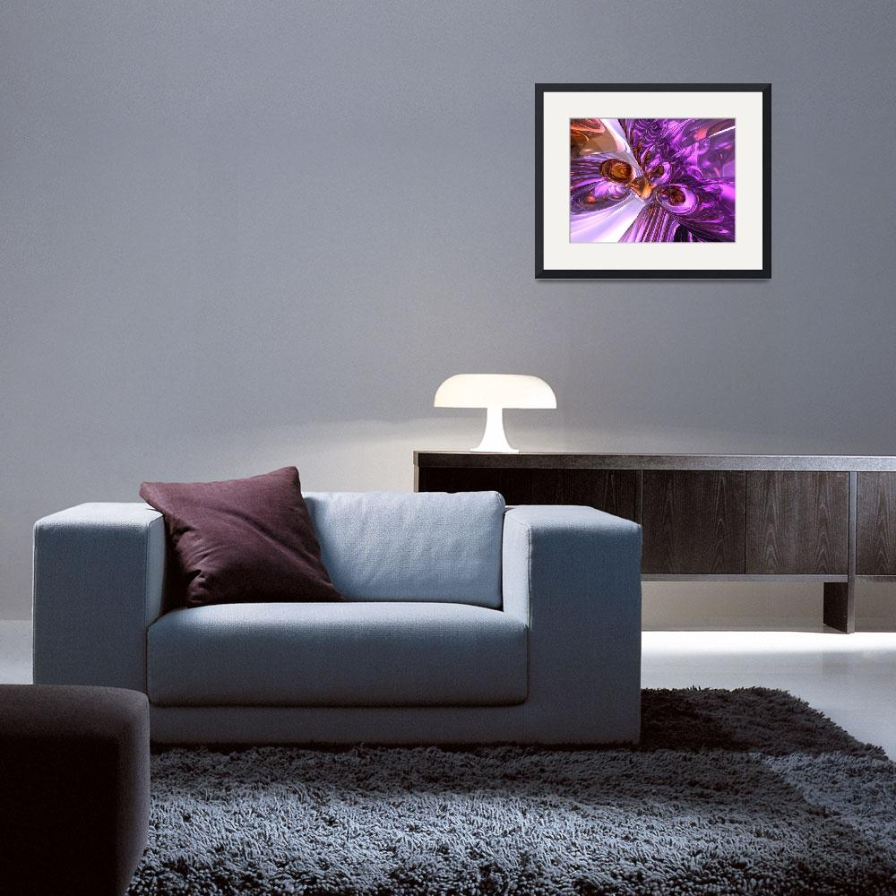 """Purple Butterfly Abstract&quot  (2008) by AlexButler"