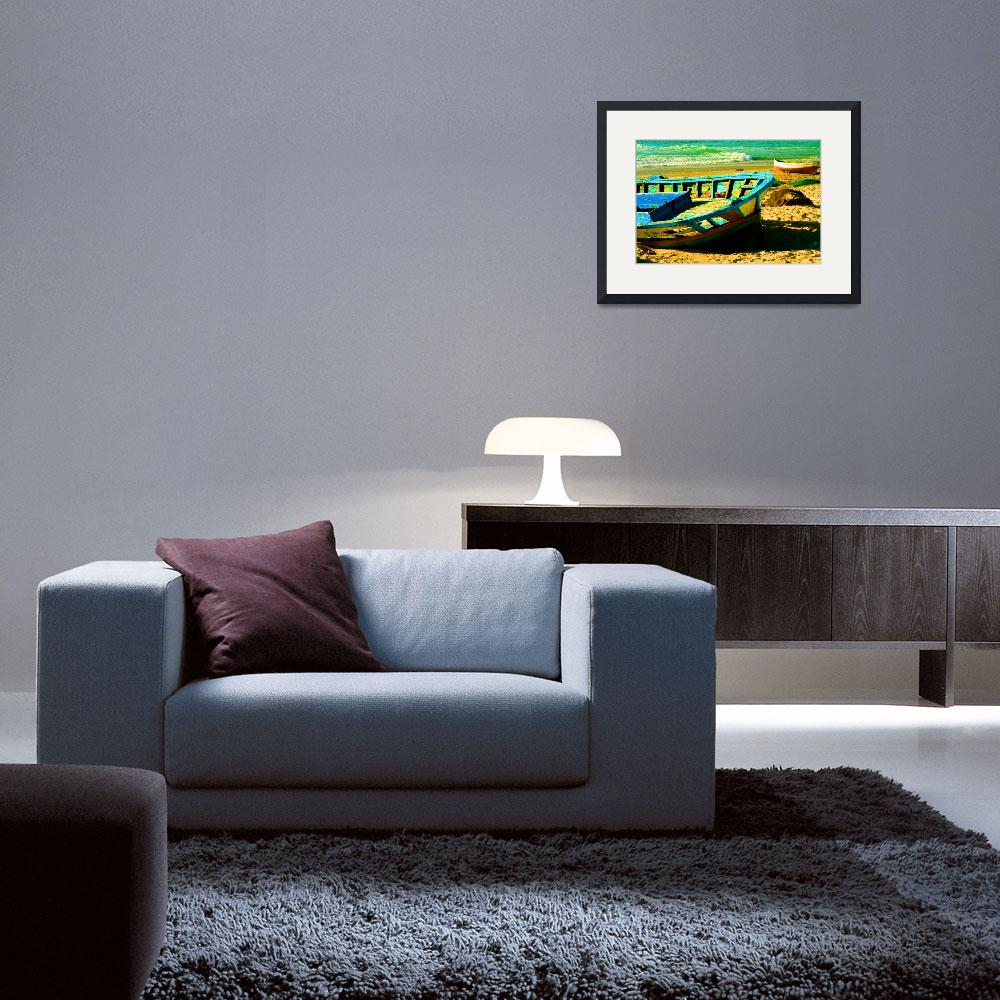 """""""Boats in the Sand""""  (2007) by rayjacque"""