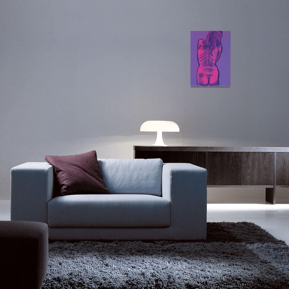 """Pink & Blue Back""  (2002) by PopandAwe"