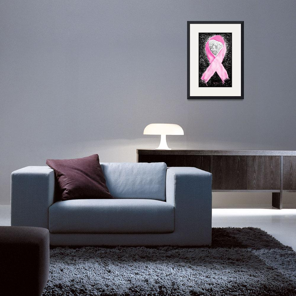 """""""Breast Cancer Awareness Ribbon""""  (2012) by LukeMoore"""