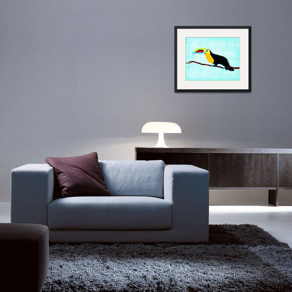 """""""Toucan at rest&quot  (2013) by LimeCreekArt"""