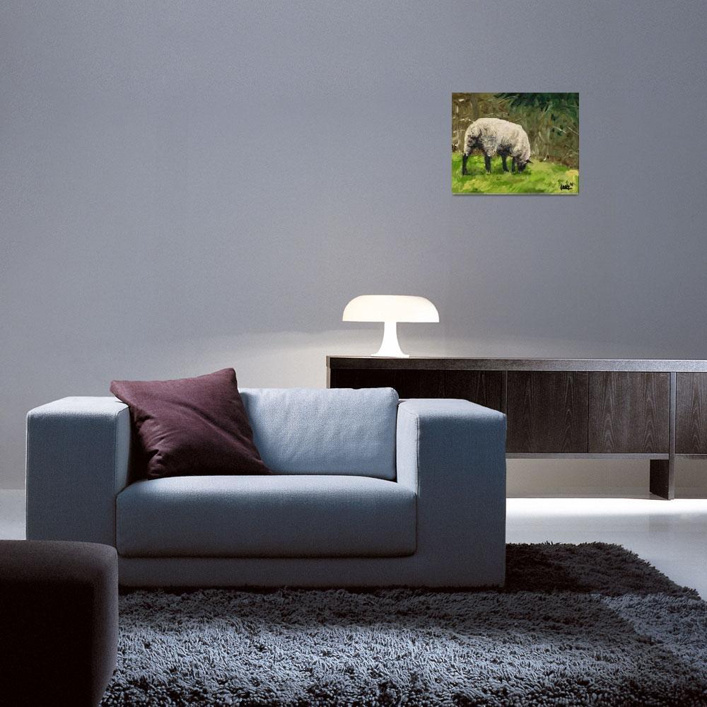 """Grazing Sheep At Broken Barn""  (2008) by harryboardman"