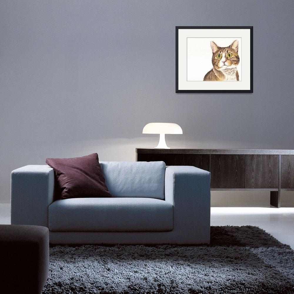 """""""Mitzy the Unusually Uninhibited Tabby&quot  (2014) by Designomel"""