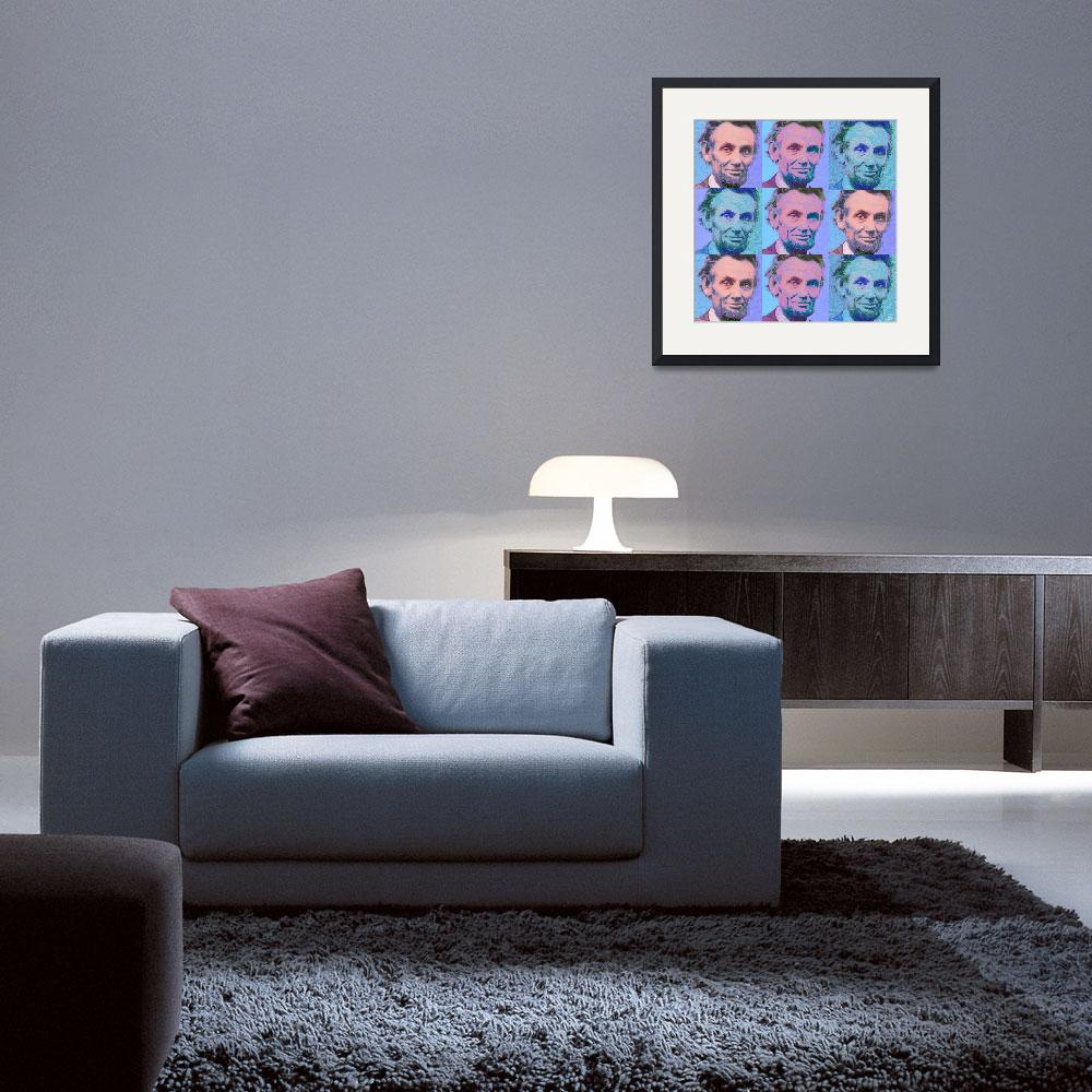 """""""Abe Lincoln Smiles Repeat 2""""  by RubinoFineArt"""