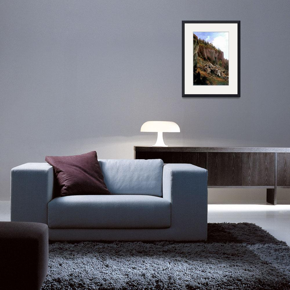 """Glowacki 1844 Hillside with rock Face - PD Image""  by DelCalsione"