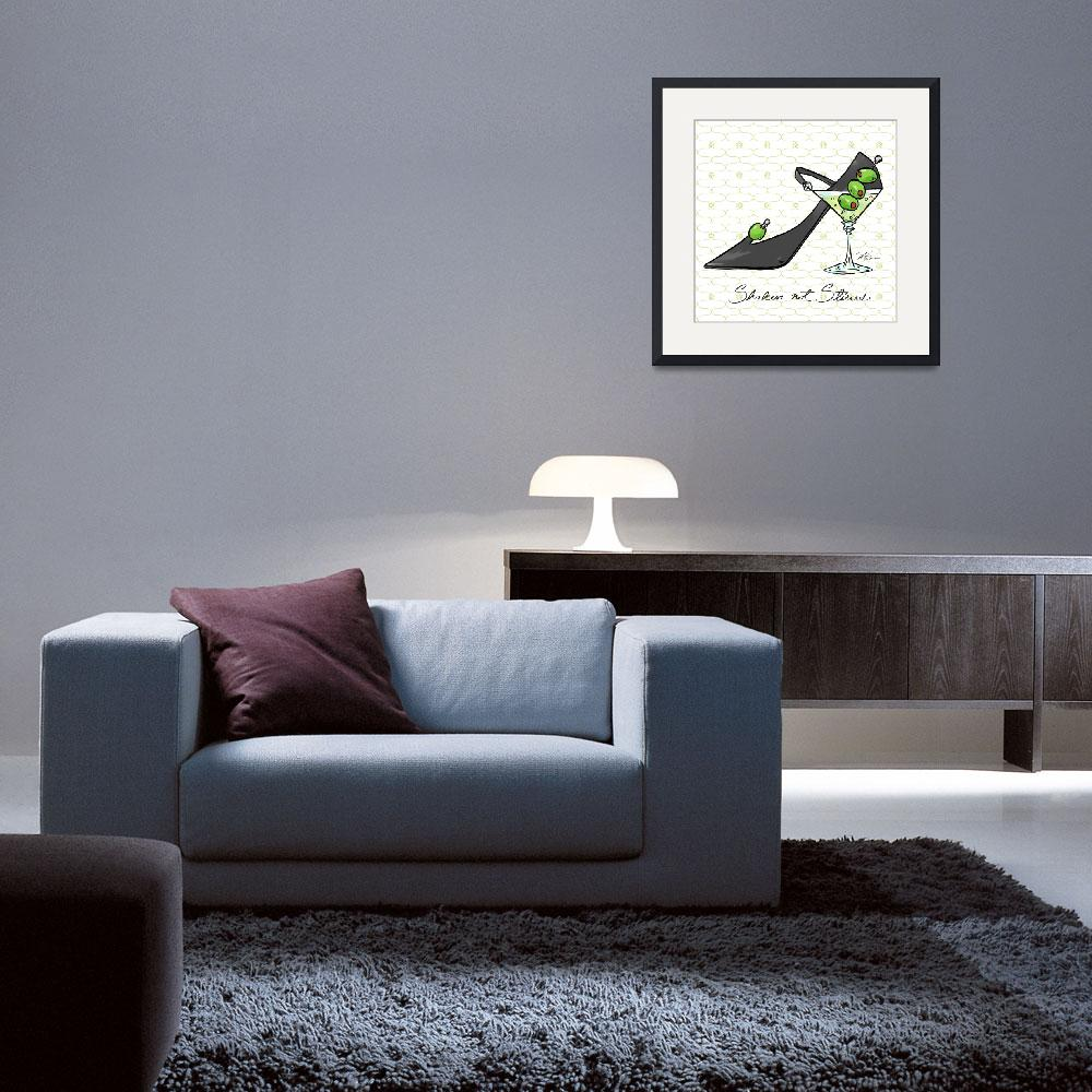 """""""Cocktail Shoes Martini&quot  (2011) by shariwarren"""