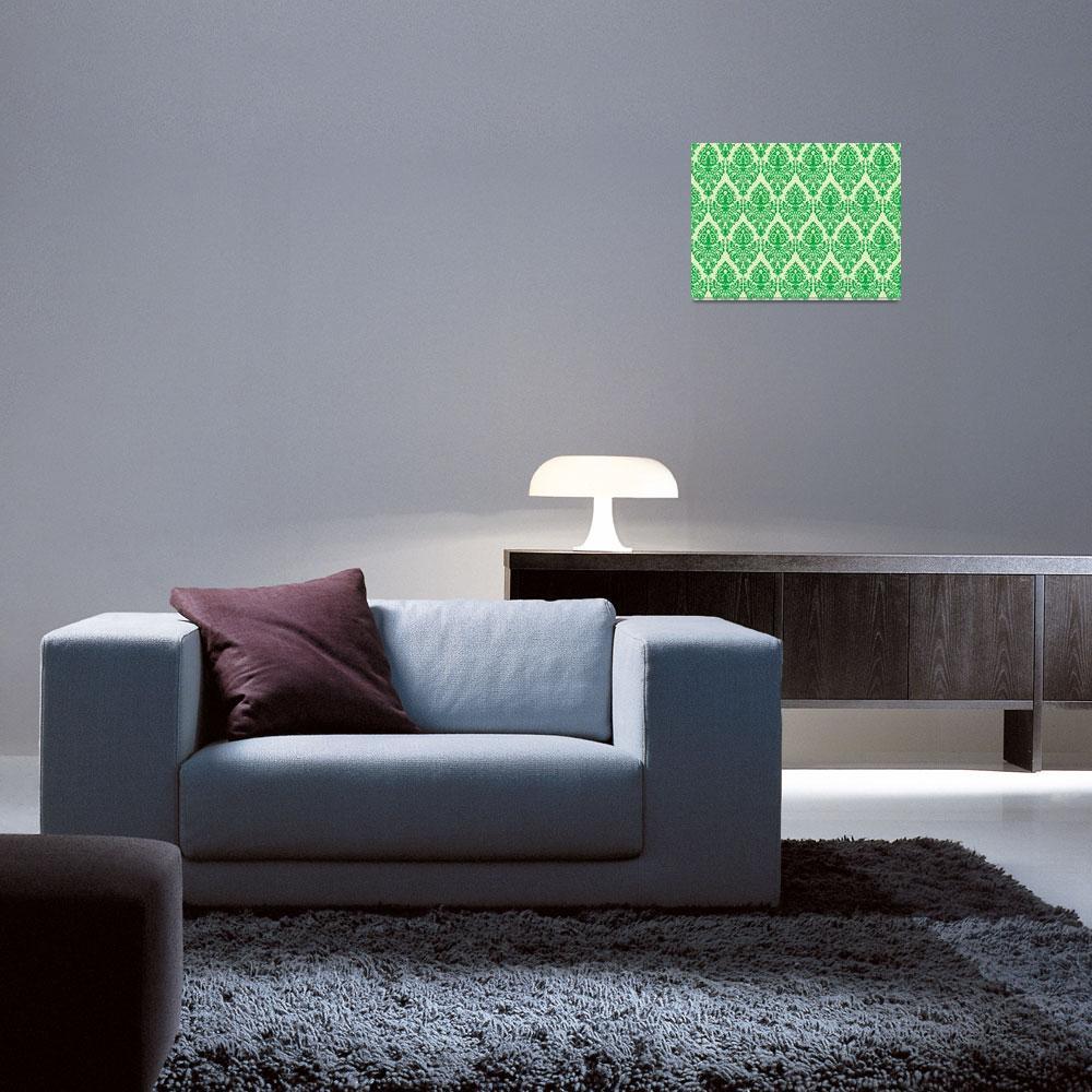 """""""green damask seamless texture&quot  by robertosch"""