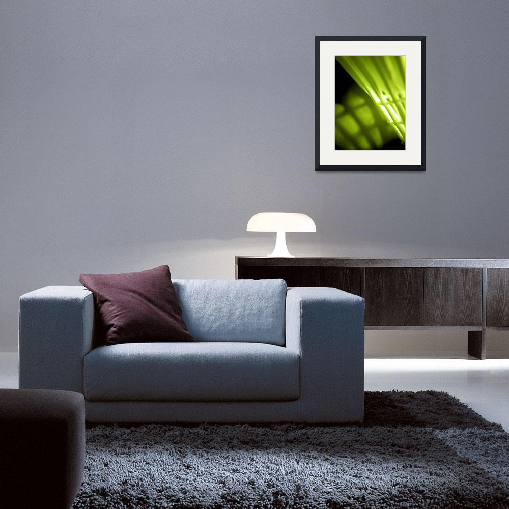 """""""Lime Green Abstract Wal lArt&quot  by NatalieKinnear"""