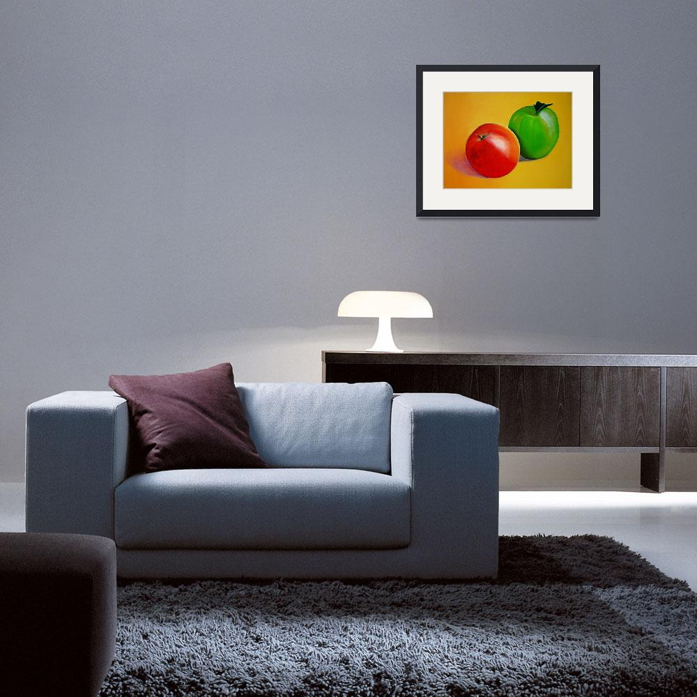 """""""RED AND GREEN APPLES&quot  by juliecat"""