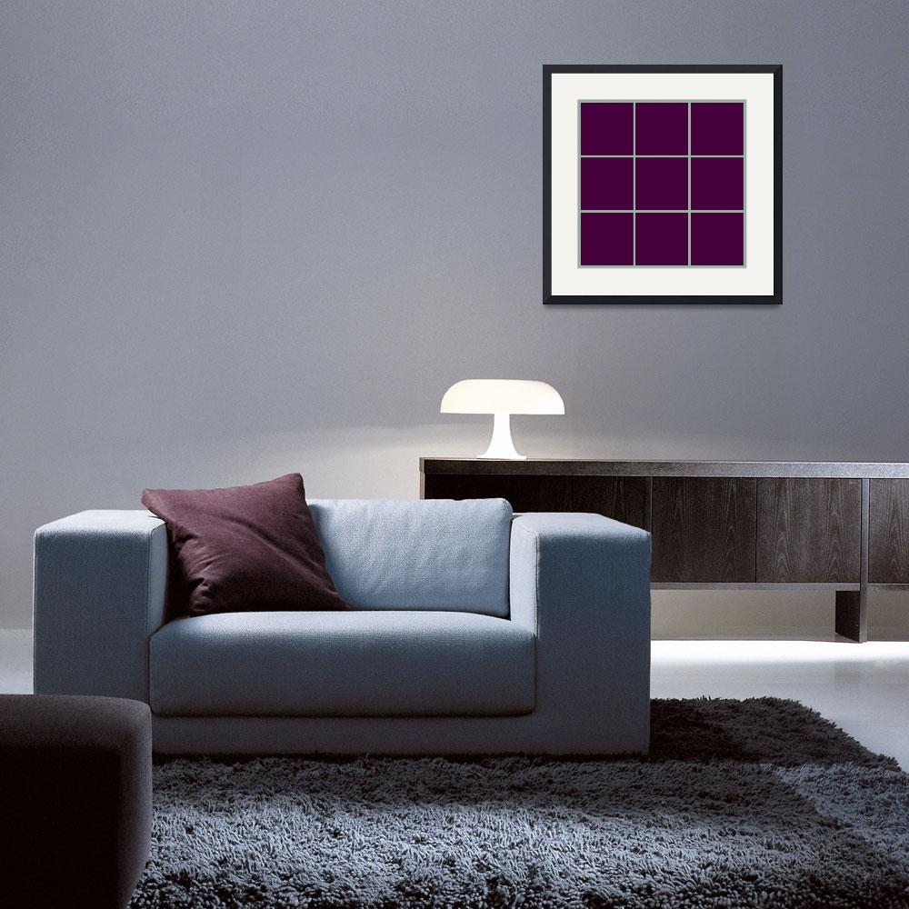 """""""Violet Window 191 Canvas Contemporary Modern&quot  (2010) by Ricardos"""