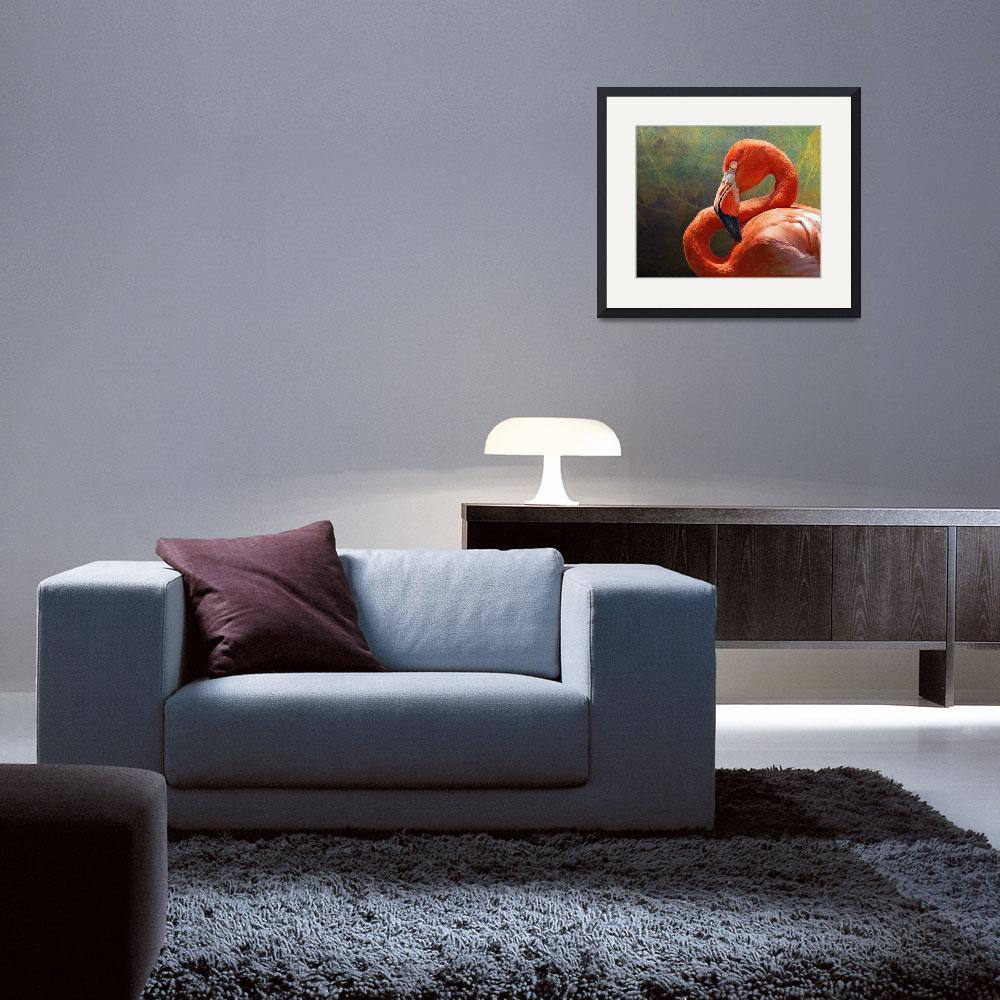 """""""blinding beauty - greater flamingo""""  (2011) by rchristophervest"""