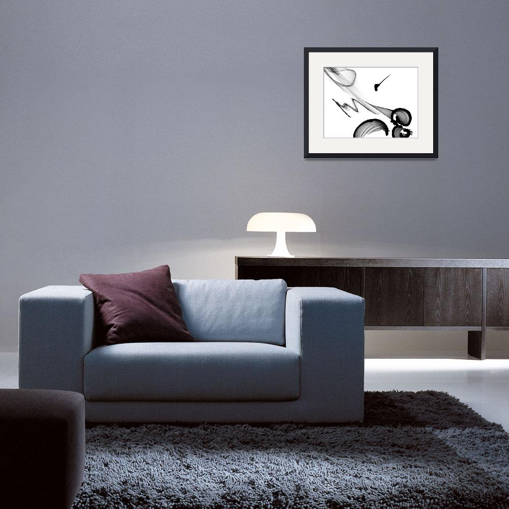 """""""ORL-5987 Abstract Art Black And White&quot  by Aneri"""
