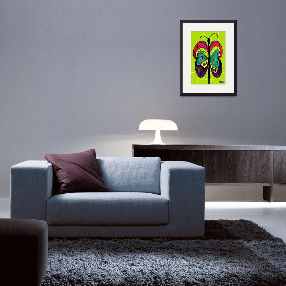 """ART DECO BUTTERFLY&quot  (2005) by AES"