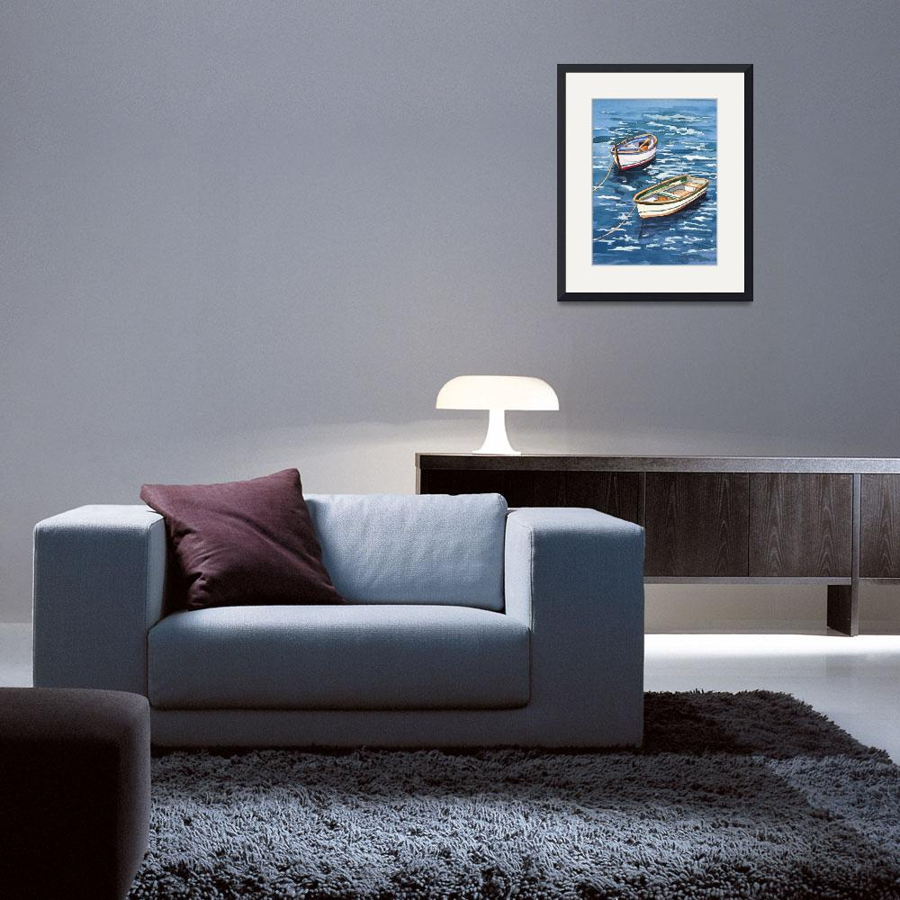 """""""Vernazza Boats&quot  by WillyDaleArt"""