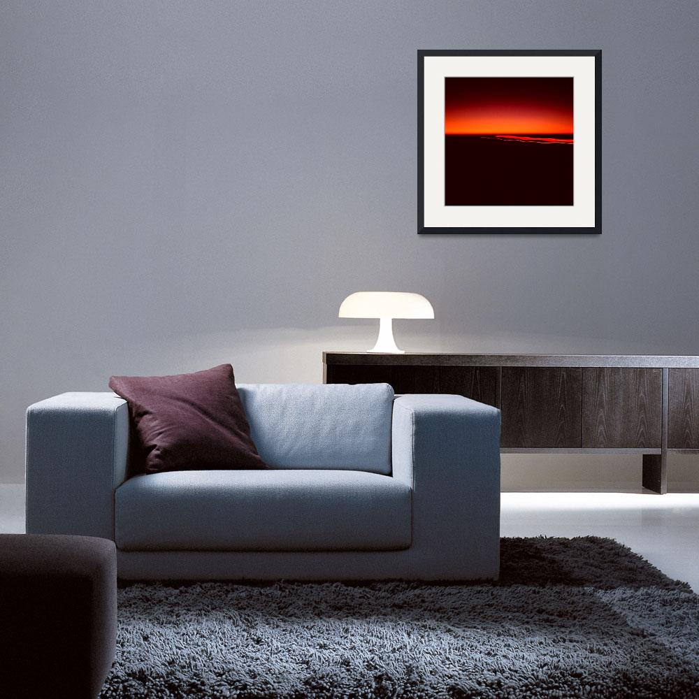"""Night Lights Sunset Four Red Lights 8702 A 008 Squ&quot  (2014) by WestwoodPrints"