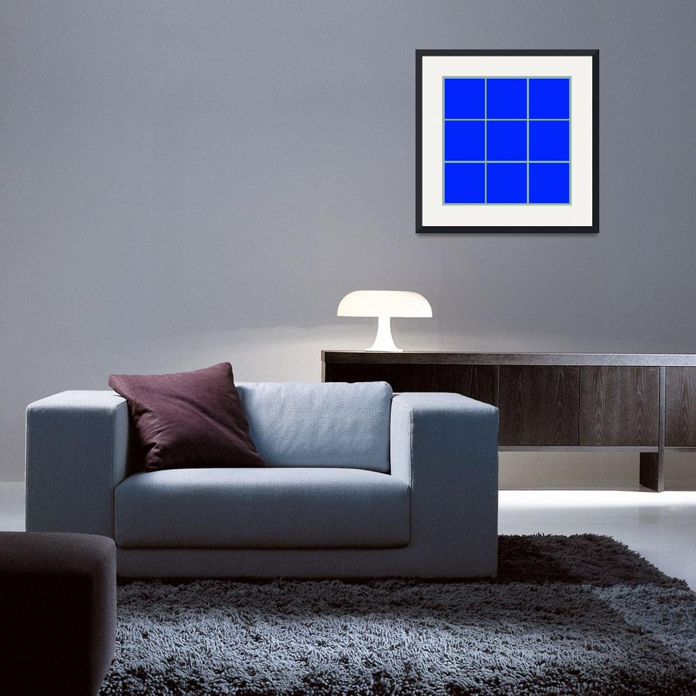 """""""Blue Window 104 Canvas Contemporary Modern&quot  (2010) by Ricardos"""