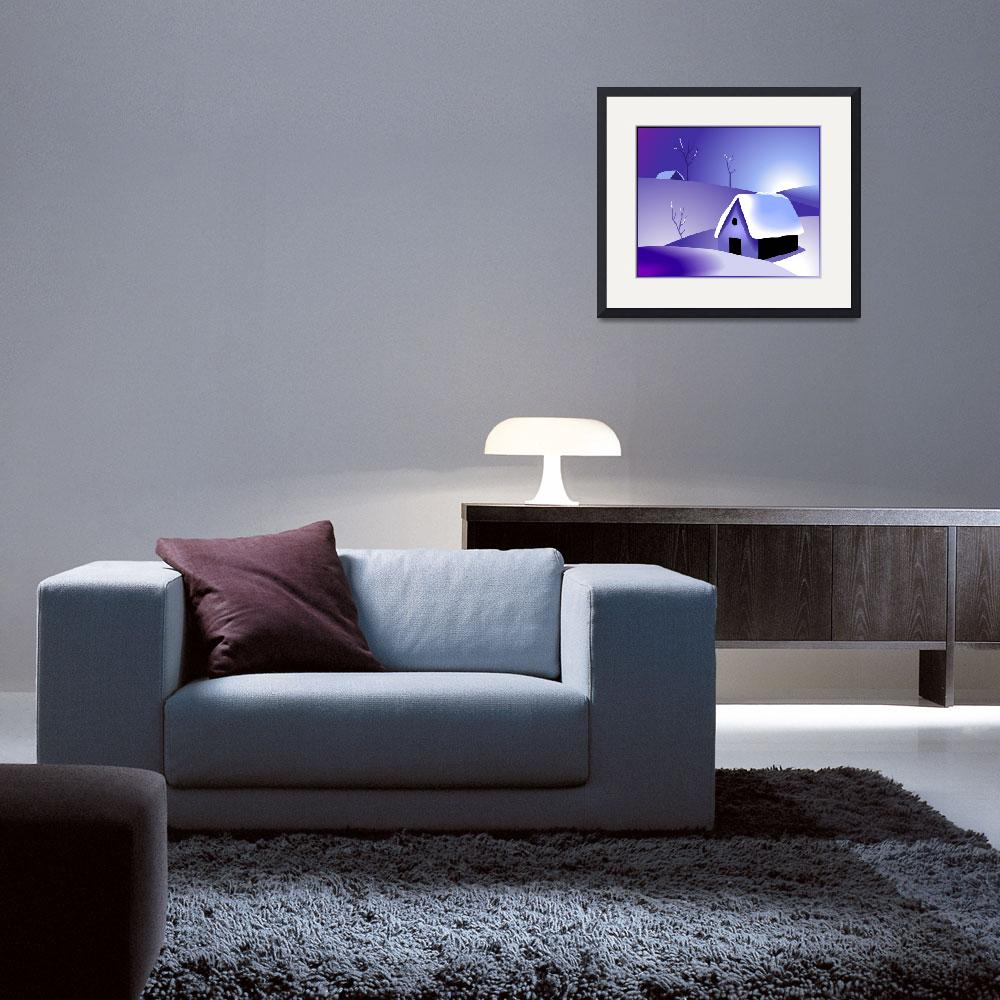 """""""Beauty of the house in a winter climate""""  (2011) by digitalpainting"""