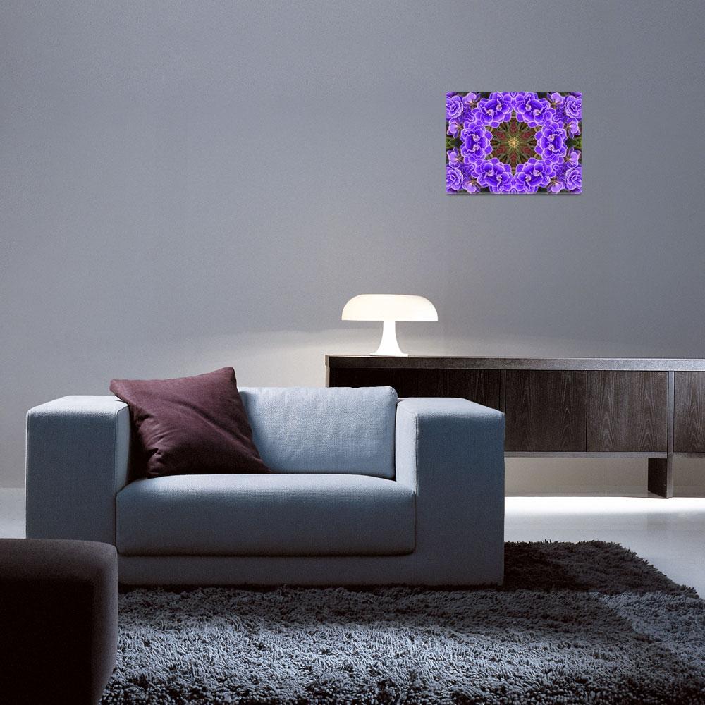 """""""African Violet Mandala""""  (2012) by SeaAngel12"""