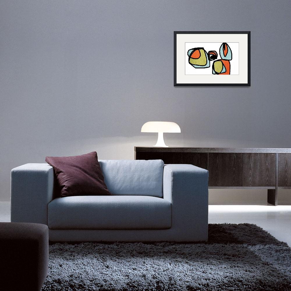 """""""ORL-6871-2 Vibrant Colorful Abstract-0-45&quot  by Aneri"""