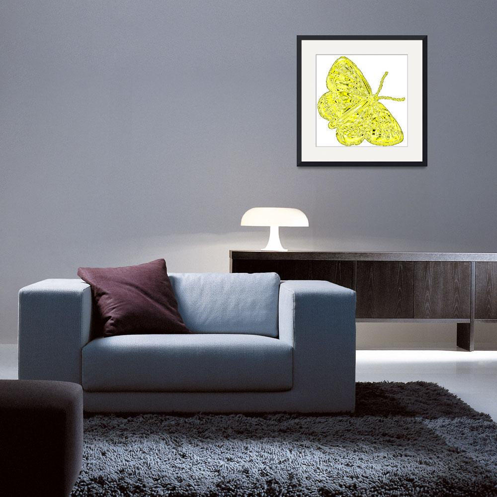 """""""butterfly yellow&quot  by lizmix"""