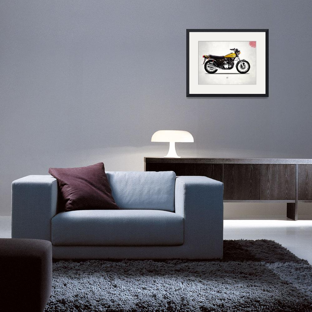 """""""The 1973 Z1 Classic Motorcycle""""  by mark-rogan"""