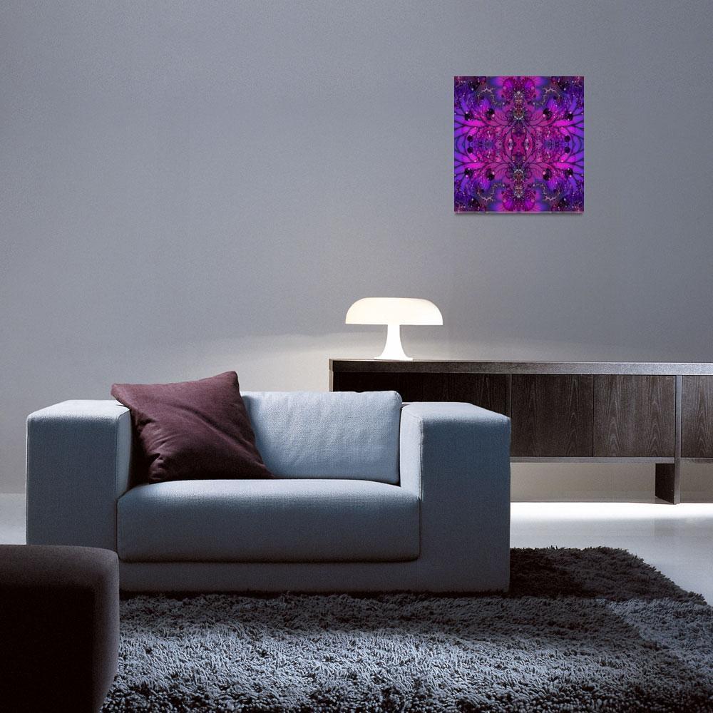 """Purple Psychadelic Fractal""  (2011) by SharsImagination"