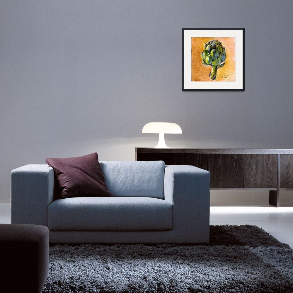 """""""artichoke ( 1 of series of 4)&quot  by rudisill"""