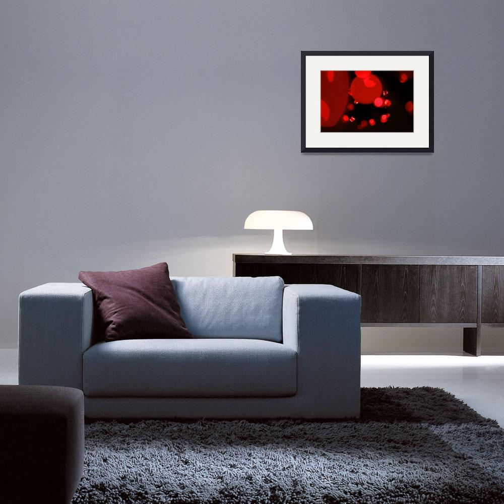 """Little Red Lights Abstract Art to Buy&quot  (2010) by tobiphoto"