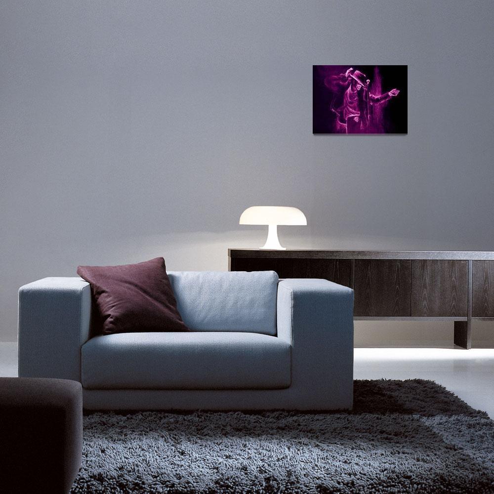 """MJ (purple)""  (2010) by alansmithart"
