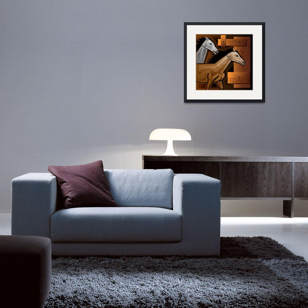 """""""Digital painting of horse&quot  (2009) by digitalpainting"""