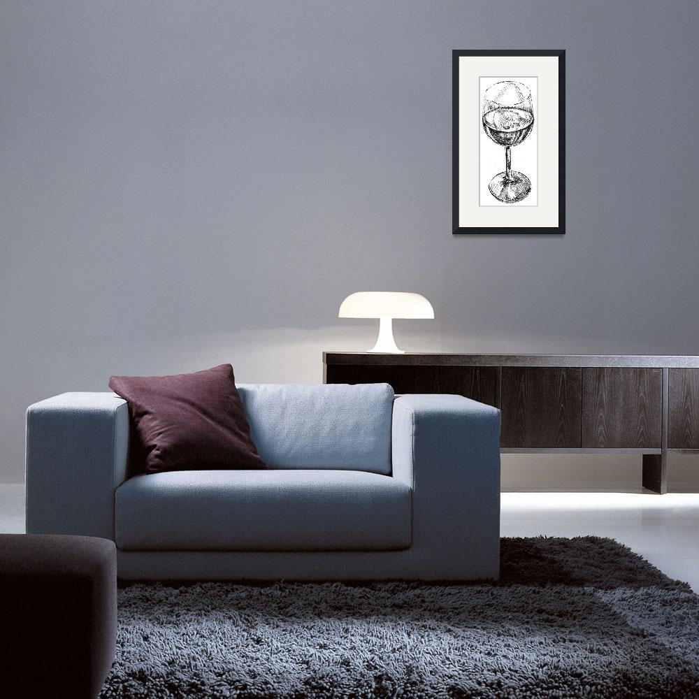 """""""wine glass&quot  (2010) by Elspeth"""