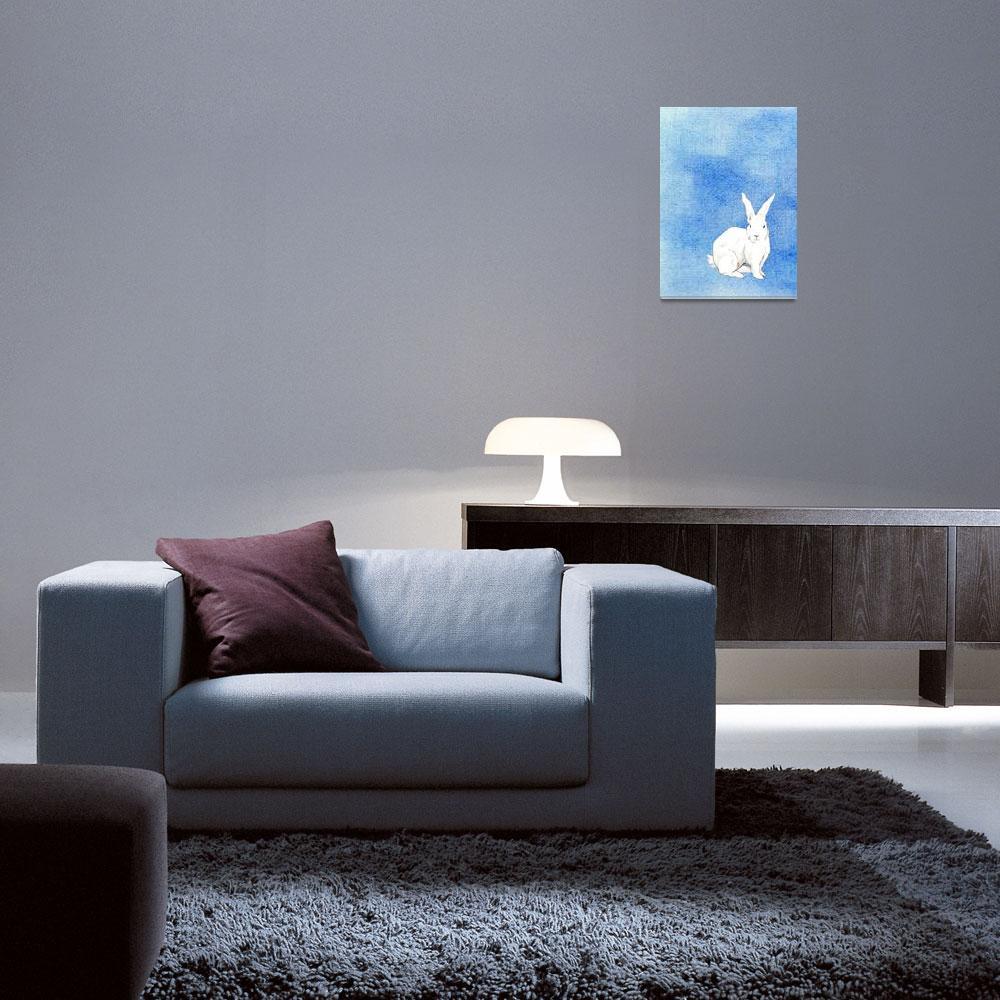 """Rabbit Blue&quot  (2008) by floatinglemons"