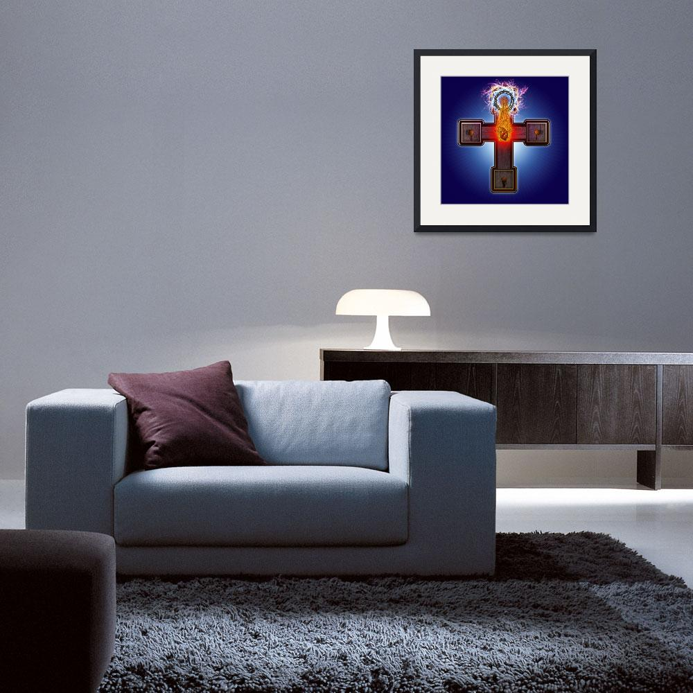 """""""Atomic Crucifix""""  (2011) by ATOMICPENCIL"""