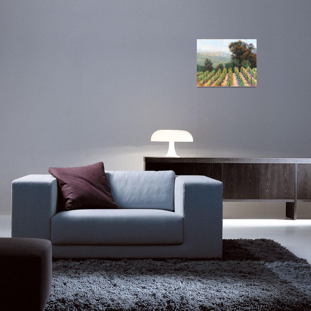 """Mountain Vineyard View II""  (2013) by MakinArt"