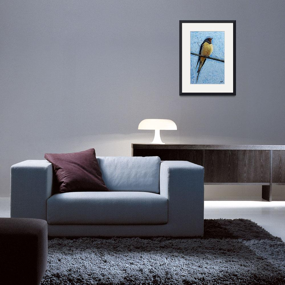 """""""a swallow on a wire&quot  (2012) by DragicaMickiFortuna"""