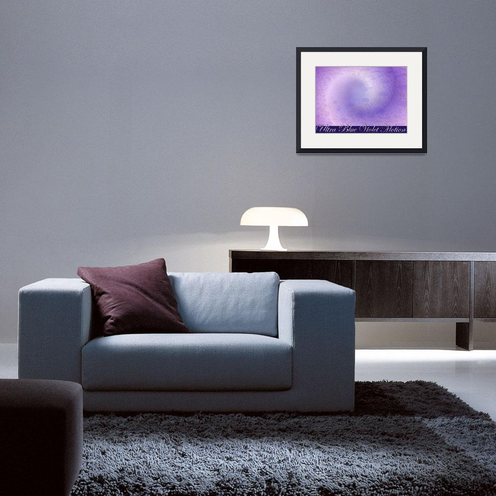 """""""Ultra Blue Violet Motion With Lettering Poster Des&quot  (2008) by stephenthedigitalartist"""
