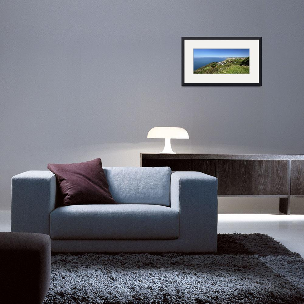 """""""Blackgang and Chale Bay Panorama (31875-RPA)&quot  (2012) by rodjohnson"""