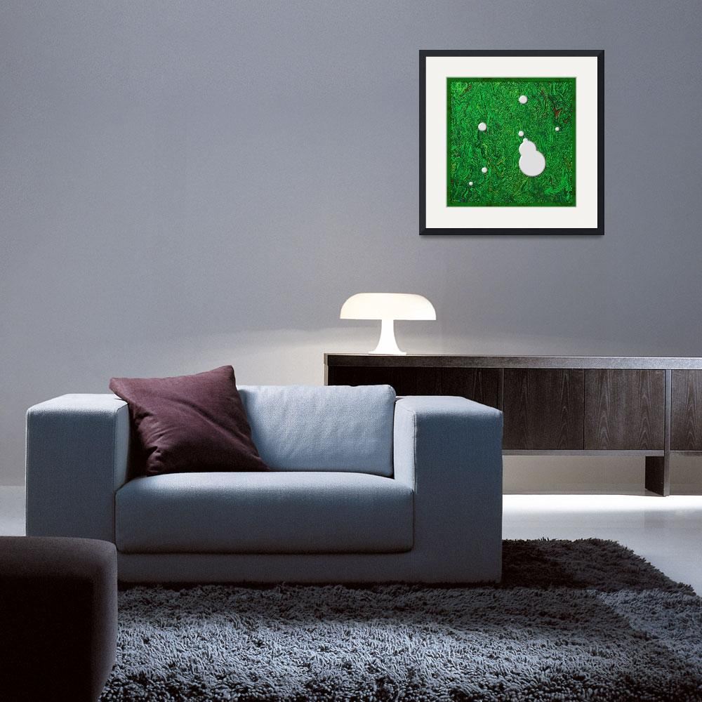 """""""20110204-White-Paint-Splatters-on-Green-v005a""""  (2011) by quasihedron"""