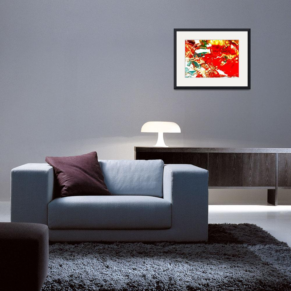 """""""Power of Red.imagekind&quot  by paulyworksfineart"""
