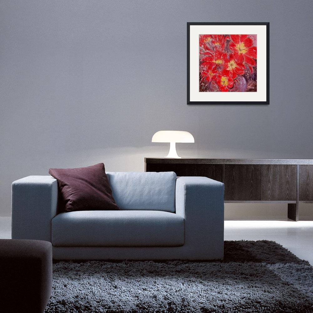 """""""Explosion in Red 2&quot  (2008) by Nash-Wood"""