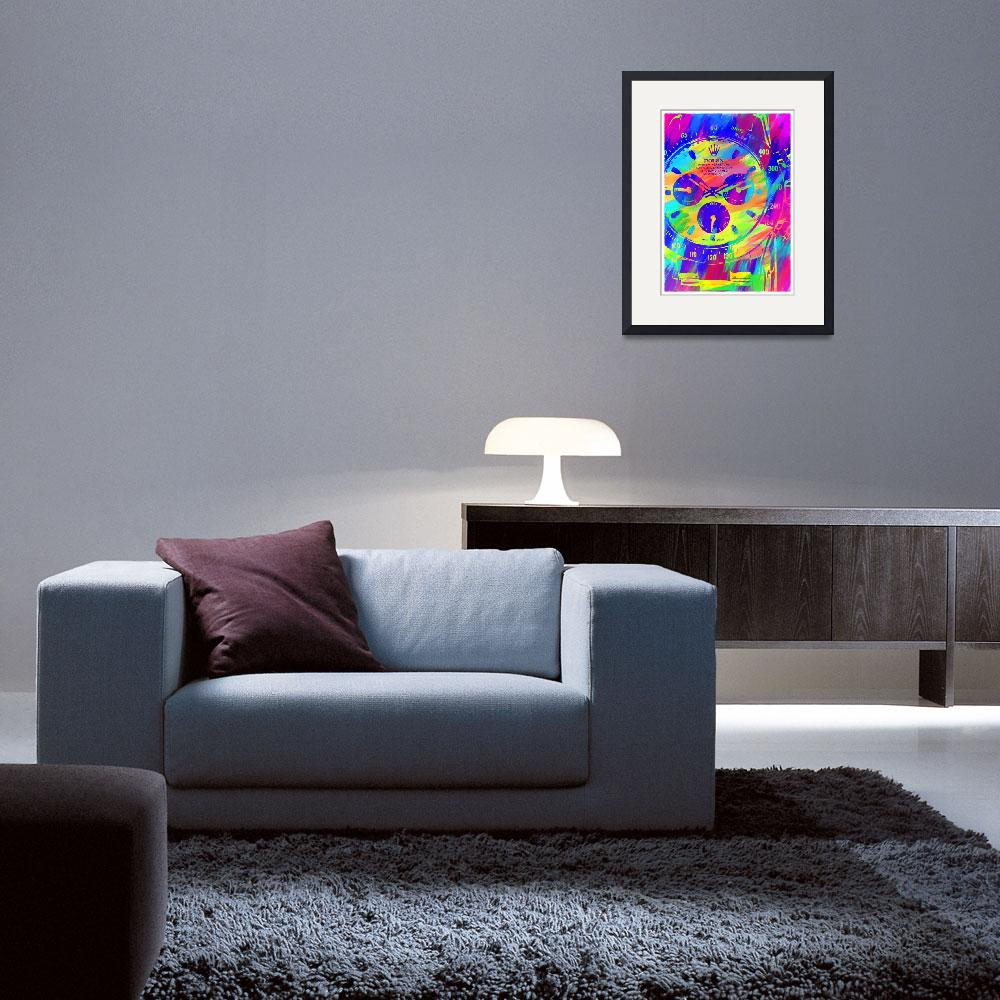 """""""Abstract Rolex Paint 16""""  by palmsrick"""