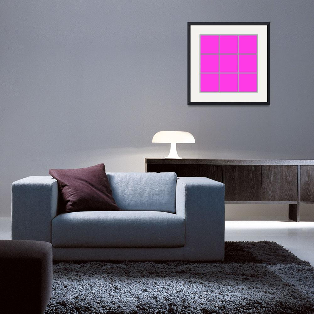 """Pink Window 178 Canvas Contemporary Modern&quot  (2010) by Ricardos"