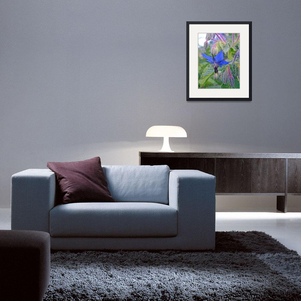 """Blue Borage Flower""  (2011) by jodipflepsen"