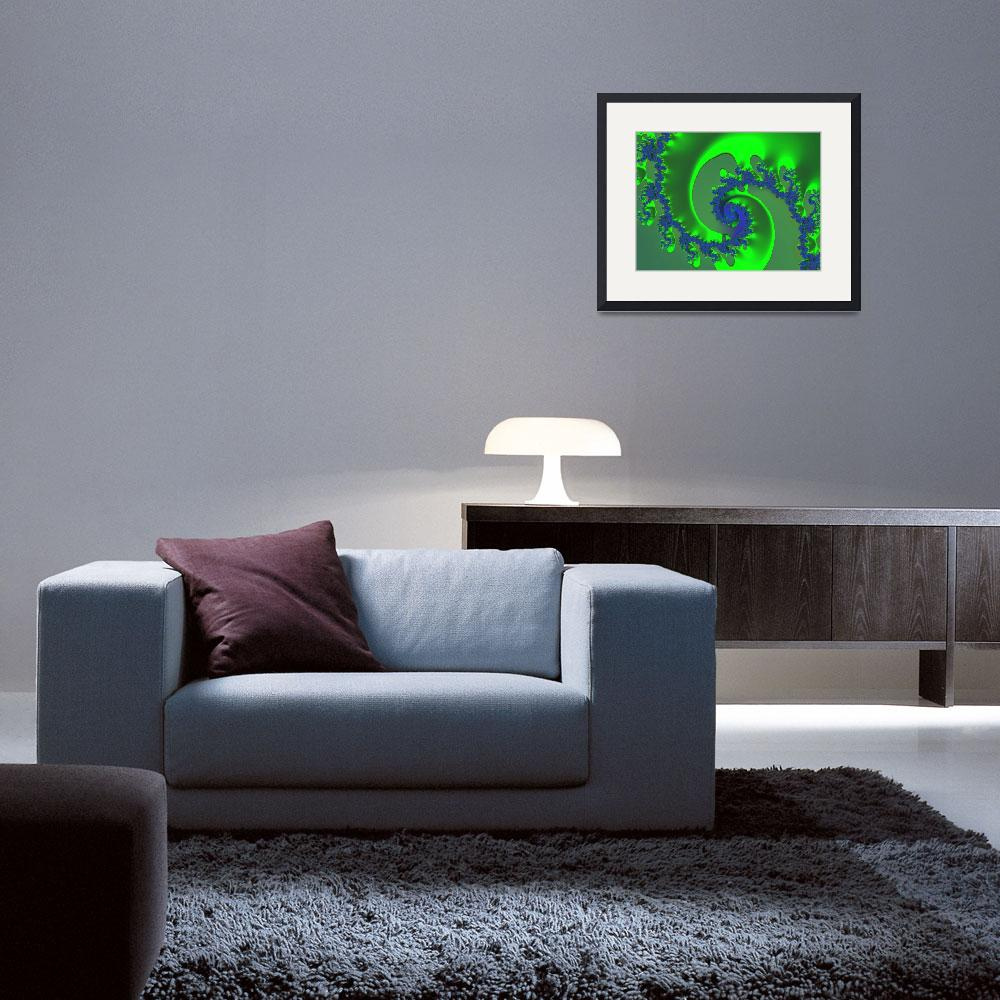 """""""Green Ice&quot  (2006) by fractalartvicky"""