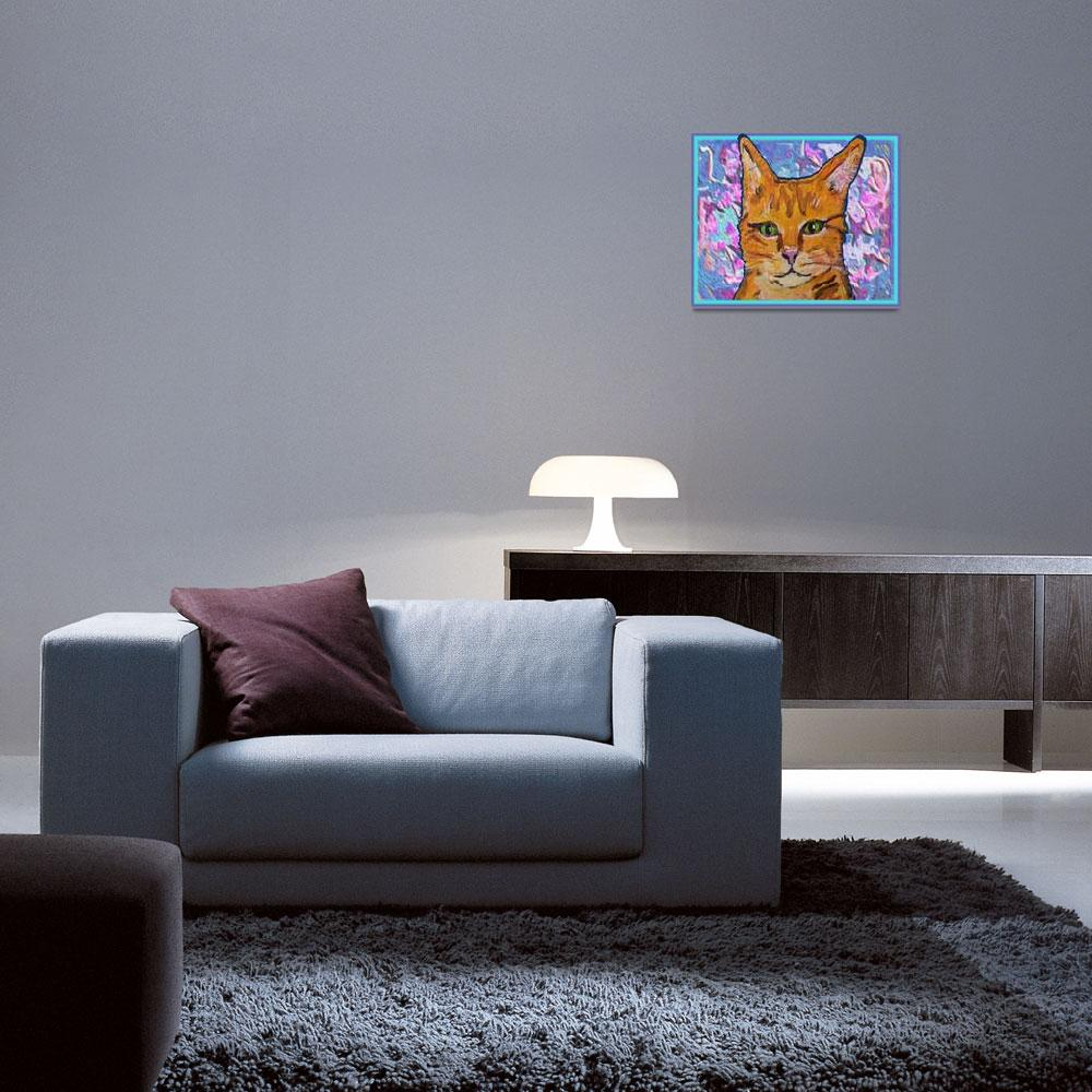 """Orange Kitty""  (2011) by paintingsbygretzky"