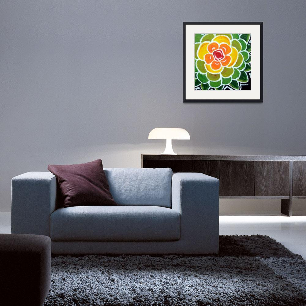 """""""Flower Series Yellow&quot  by karmabox"""