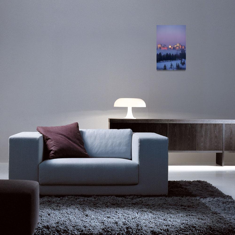 """Misty Skyline, Edmonton, Alberta, Canada""  by DesignPics"