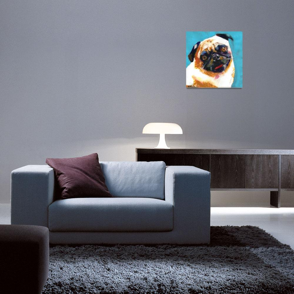 """Pug Blueboy Light Blue&quot  (2010) by RDRiccoboni"