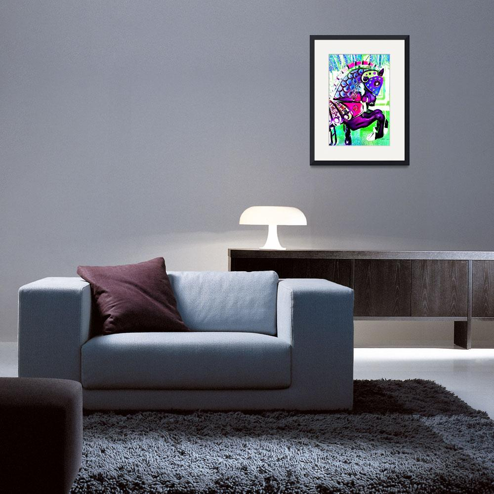 """""""Carousel  Purple Horse&quot  (2012) by psovart"""