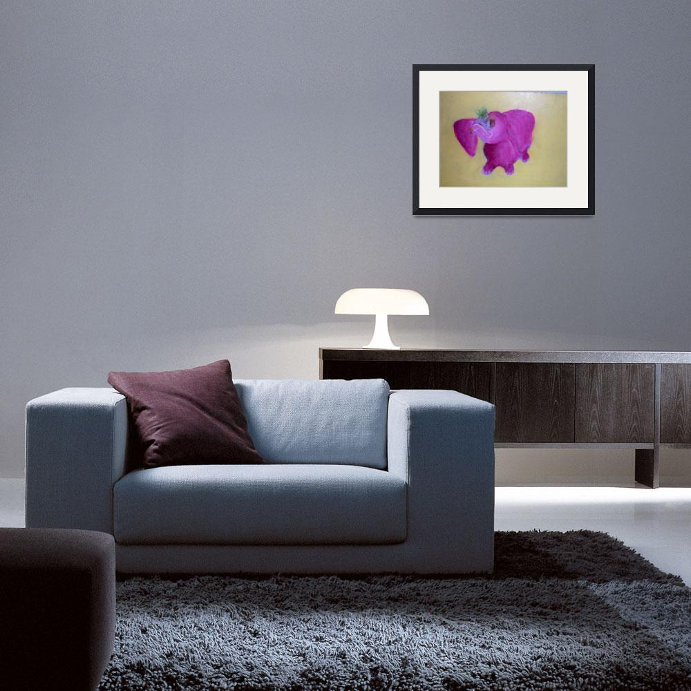 """""""pink elephant&quot  (1998) by daisy77"""